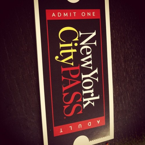 #NYC #pass #tourist #holiday  (Taken with instagram)
