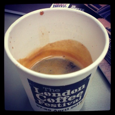 That's a good espresso ;) last coffee from the London Coffee Festival  (Taken with instagram)