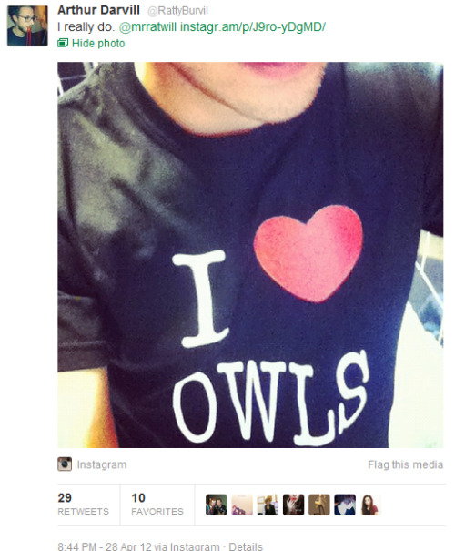 samwidges:  Laura Bauld - you need this t-shirt.  OH I CERTAINLY TWIT-A-DWWWO.