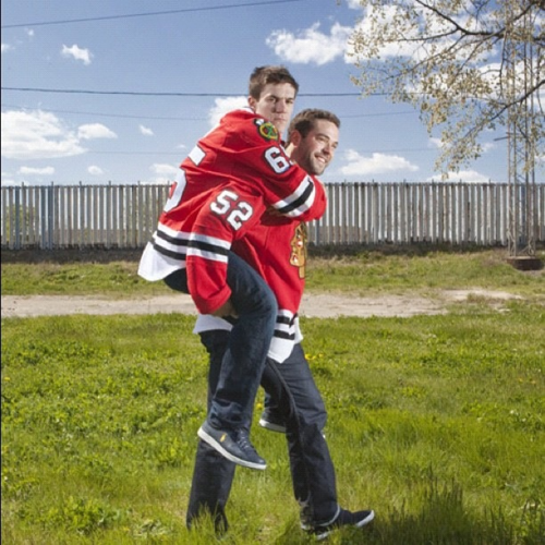 Andrew Shaw and Brandon Bollig, Chicago Blackhawks.