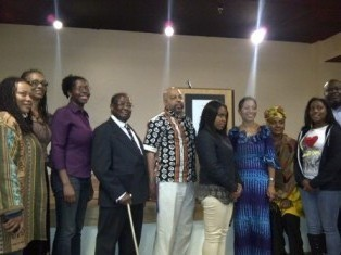 Honorable Samia Yaba Nkrumah M.P. (4th from right) @AAMPmuseum with (left to right) Dr. Evelyn Poe, Denise Valentine, Adrienne Whaley, Prof. Sir Vincent Abukuse Mbirika, Dr. D. Zizwe Poe, Tianna Williams, Ama Nimley, Rakeira Williams, Beyan Kesselly. (04272012) Photo by Denise Valentine. Philadelphia – The personal diary of Osagyefo Dr. Kwame Nkrumah (1909-1972), first President of Ghana, was returned to his family and country today. By order of the U.S. District Court for the Eastern District of Pennsylvania, the diary was released directly into the hands of President Nkrumah's daughter, the Honorable Samia Yaba Nkrumah, M.P. I was fortunate to attend a welcoming reception for Samia Nkrumah at the African American Museum in Philadelphia (AAMP) immediately after she reclaimed Dr. Nkrumah's diary for the people of Ghana.  More…