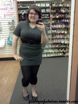 Who says big girls can't rock a dress/long shirt & leggings?  Down to 185! :D