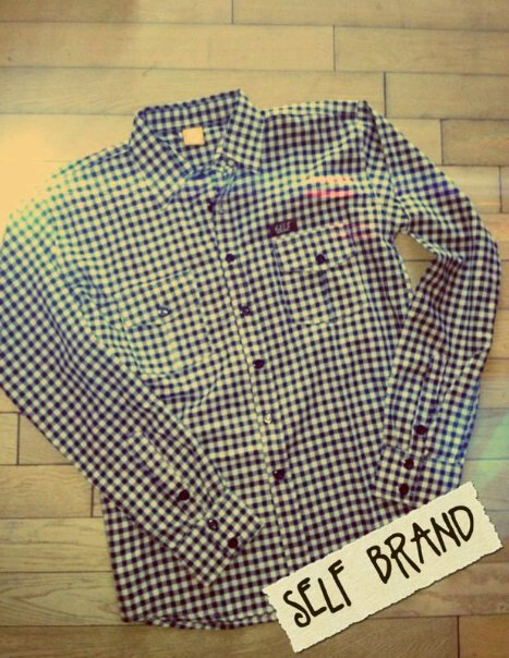 self | KMJ | long plaid black // IDR 250000