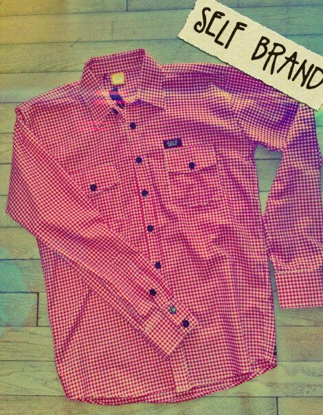 self | KMJ | long plaid red // IDR 250000