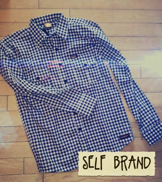 self | KMJ | long plaid blue // IDR 250000
