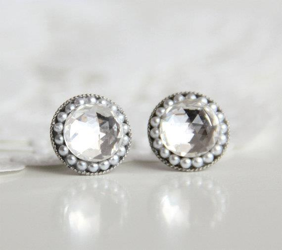 New jewelry at lili&gen: The perfect old Hollywood glam earrings Contact us to order ~lili