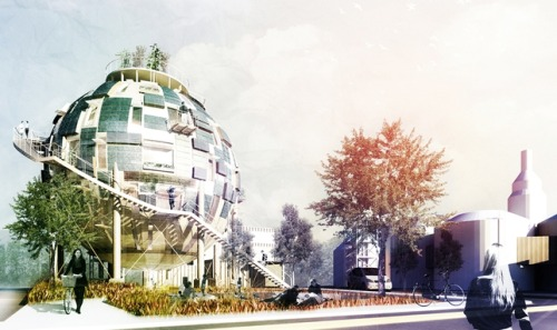 The Oil Silo Home, designed by pinkcloud.dk in Berlin, recycles oil silos by transforming them into affordable houses! via treehugger