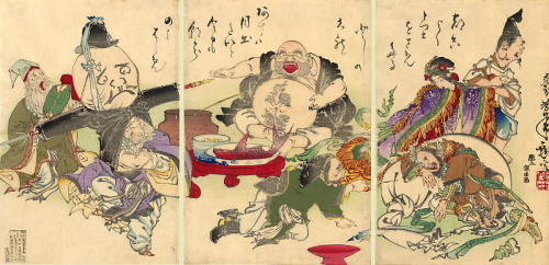 The Seven Lucky Gods, in an 1882 print by Yoshitoshi.