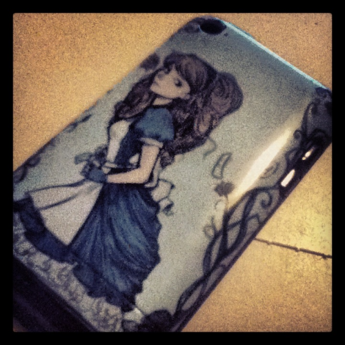 My iPod case came today! The printing is spot on and that makes me so happy. Iphone cases, prints, and r-shirts are currently available at my red bubble shop.