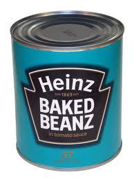Having some baked beans!!