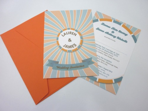 Lauren - Candy wedding invitation