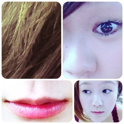 #mascara only. without makeup. hmm, playing with #frames ! #girl #asian #lips #eye #face #hair #random #red #plain #natural #camwhore  (Taken with instagram)