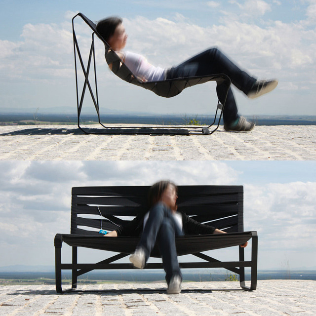amessofhappy:  Bending Rubbery Bench by Daniel Garcia Sanchez