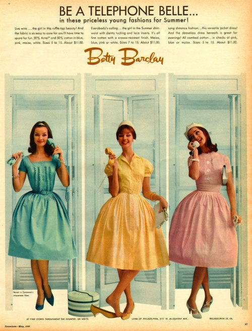 the60sbazaar:  Betty Barclay dresses advert (1960)