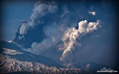 Mt. Etna activity - view from Catania.12th April  2012