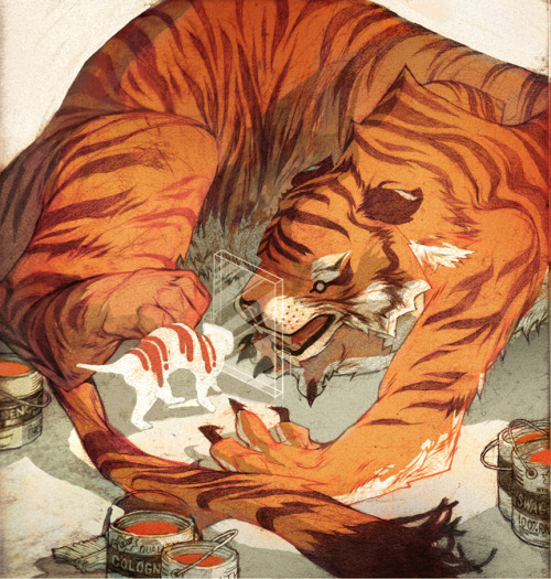 illustratosphere:  Paper Tiger by contraomnes