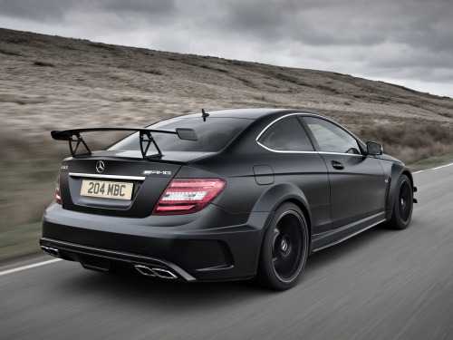 carmonday:  Black Benz Mercedes C63 AMG Black Series
