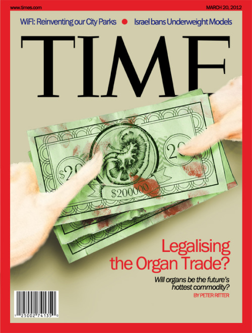 LEGALIZING THE ORGAN TRADE? - illustration assignment for school. we were tasked with creating a (mock) cover for TIMES magazine on an article of our choice. i went with the concept of dirty money. link to the original article mix media: digital, watercolour and paper photoshopped together