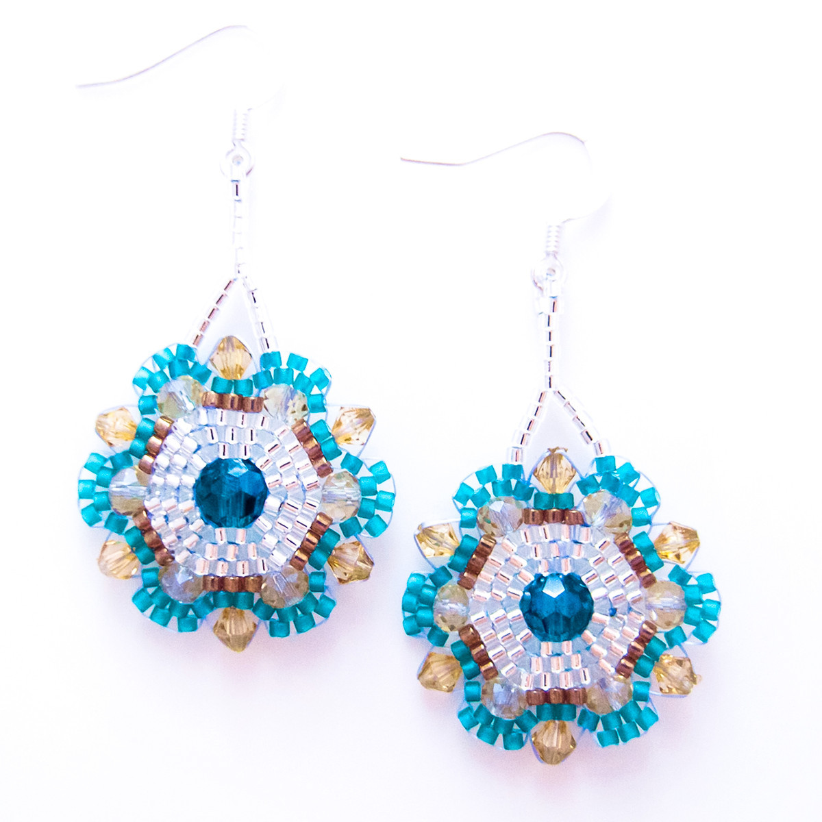 12 PIECES LEFT ~ $38 each! Caribbean Flower Earrings now on FAB.comAll is groovy with JeannieRichard's refined take on the hippy-dippy flower. Nothing really resurrects or celebrates the cheer of summer better than a pair of delightfully upbeat accessories like the Bohemian Caribbean Flower Earrings.