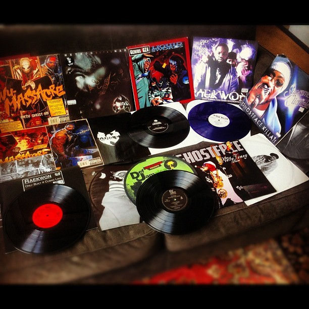 #wutang #record #collection. All original #vinyl pressings except for #cubanlinx #raekwon #gza #methodman #ghostface #vinyligclub #shaolin #purple #tonystarks  (Taken with Instagram at Shaolin)