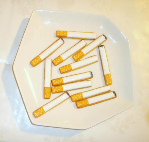 Cigarette cookies from Kingfisher Bakery