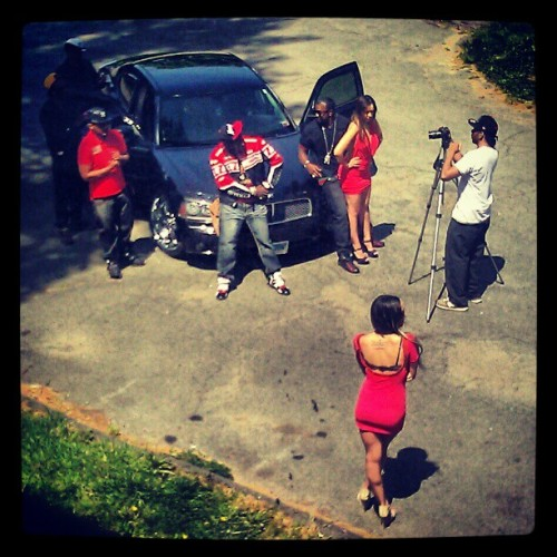 iammattjordan:  A rap video is being shot in the lot next door and I've forgotten what my life is about anymore. (Taken with instagram)
