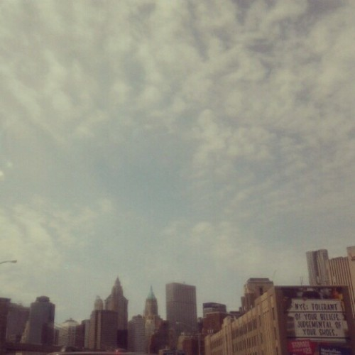 My view of the #nyc skyline from traffic (Taken with instagram)