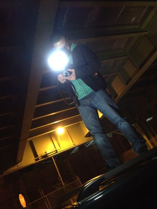 This is me last night. Standing on top of a car at 2am on the highway to get a different angle for a music video I was shooting.