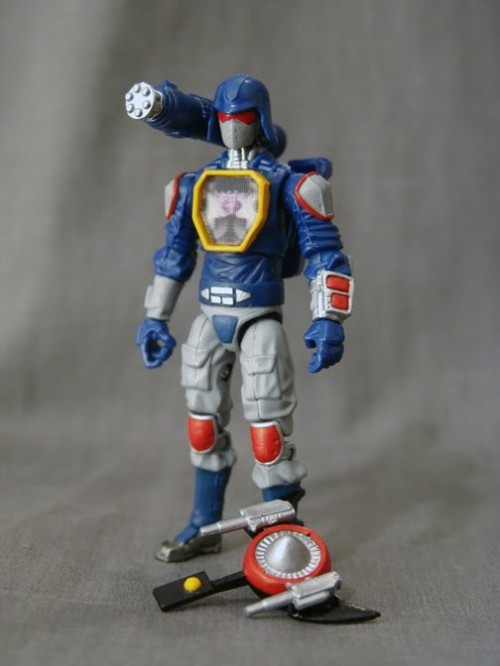 "Badass toy mod of the day: Soundwave/Cobra Commander action figure Soundwave and Cobra Commander… two icons from two different 80s toy and TV show franchises, finally together at last. It's got all the awesomeness of Soundwave (shut up, tape decks were badass back in the 80s), all with the ability of Cobra Commander to look cool for a while before yelling ""Reeeetreeeeat!"" Made by Airmax Via"