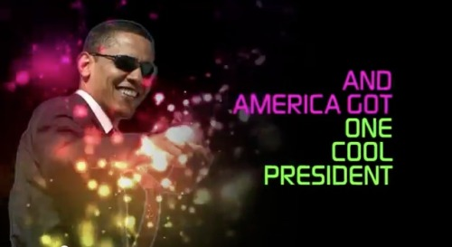 "American Crossroads released a new video today mocking President Obama's celebrity-like presidency, called ""Cool,"" and features Obama dancing on the Ellen Degeneres show, calling Kanye West a ""jackass,"" and his recent appearance Late Night Jimmy Fallon."
