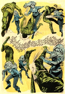 girlslovecapestoo:  Black Canary kicking butt! Love the overly dramatic description (and the beautiful Neal Adams art)  Neal Adams will always be my favourite Dinah Lance, Oliver Queen and Talia al Ghul artist. Look how perfect this page is!
