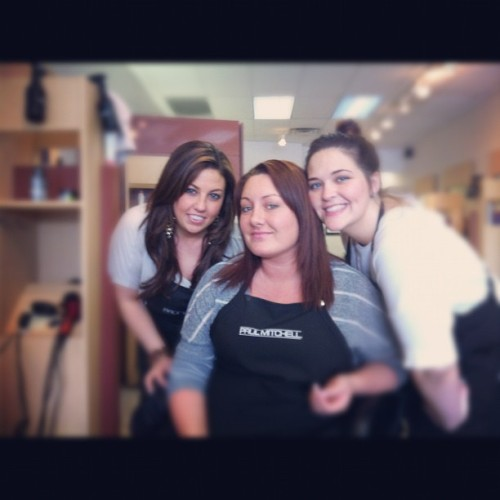 @meghan_lillian & @megancarmody22 ☺ #supercuts  (Taken with instagram)