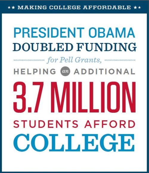 barackobama:  Because crushing student loan debt isn't as fun as it used to be: here's how President Obama's making college more affordable.  Please! this is utter bullshit! keeping college loan interest rates from doubling? that PREVENTING something worst, not DOING something good. How about taking some progressive action eh? This is like saying, I will Not stab you in the neck so hard when i see you. Very different from saying I will heal your wounds. Not to mention, president Obama actually GOT RID OF SUBSIDIZED FEDERAL LOANS! which means the students have access to ONLY Unsubsidized ones. It used to be i could have subsidized and unsubsidized loans. I would have to pay 0 interest on subsidized ones. But now, all i can take out are Unsubsidized loans. Which translates into me paying Interest on ALL my loans! So what the fuckery is this about keeping interest rates low? All students have to pay interest on more money now dumbasses!