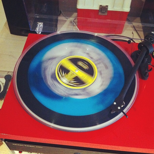 Liquid filled goodness #vinyl #jackwhite  (Taken with Instagram at Long Beach)