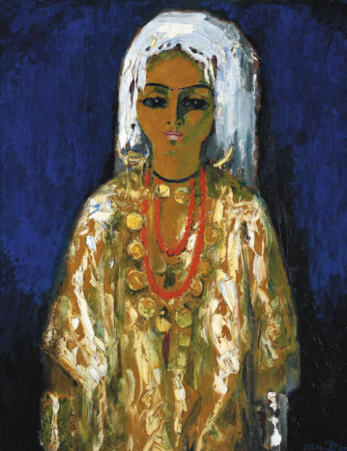 L'Ouled Naïl by Kees Van Dongen, 1910, oil on canvas, 100.5 x 82.2 cm, sold at a Christie's auction in 2008. poboh:  L'Ouled Naïl, Kees Van Dongen. (1877 - 1968)