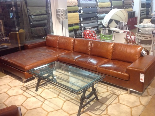 The Barnet Leather Sectional in a beautifully stunning, full grain leather. Item # 077178, 077179. Was $5569. Now $2784.50. Quantities are very limited. 1.888.685.3838. Modern Furniture that is clean and timeless.