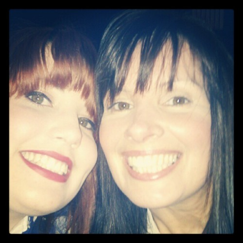At the Burlesque show with mother (Taken with instagram)