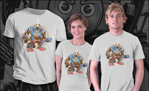 """Thomas The Assault Engine"" by midgerock selling @teefury.com April 29th for 24 hrs."