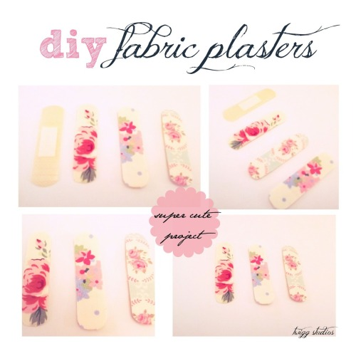 rainbowsandunicornscrafts:  DIY Prettiest Band Aids Ever. Floral fabric band aids to help ease the pain. Tutorial from Twigg Studios here.