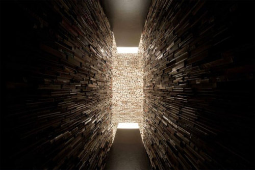 The House that Books Built… pmai:  This house made of books was designed by Slovakian artist Matej Kren in his installation Scanner, currently on display in Italy at the Museum of Modern Art in Bologna