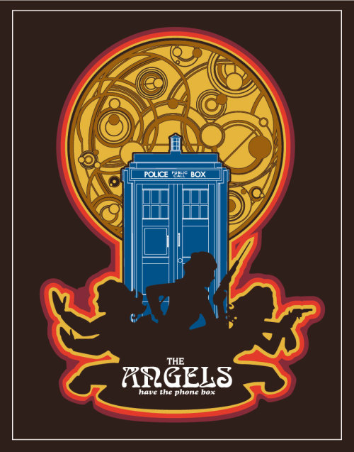 heyoscarwilde:  The Angels have the phone box. illustration by Christian Petersen :: via etsy.com