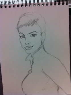 Me drawing Anne Hathaway as Catwoman at work!