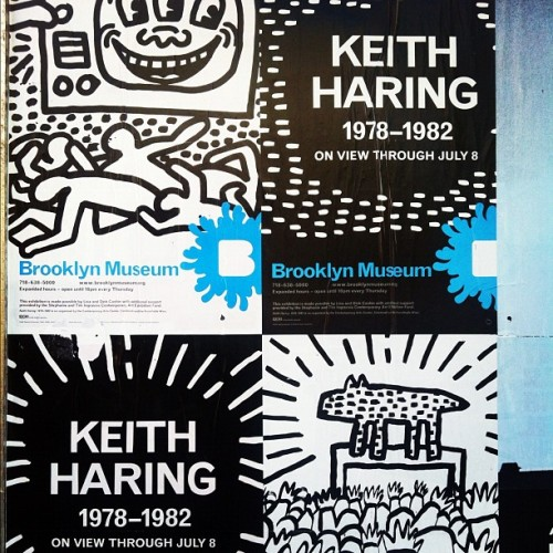 Keith Haring at The Brooklyn Museum  (Taken with instagram)
