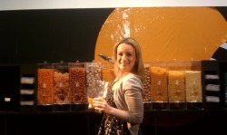 Me filling my candy bag in the AOL Lounge at the Digitas NewFront 2012. I served as a writer/producer of the livestream show and also coordinated 70+ meetings between celebrities, content partners and brands in the annual NewFront marketplace. I was a busy girl and needed some sugar!!!!