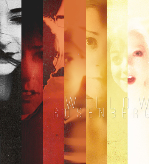 Willow Rosenberg Color Wheel: A cap from every season finale, in the colors I associate her with [black, white, red, orange… and I guess a little yellow].
