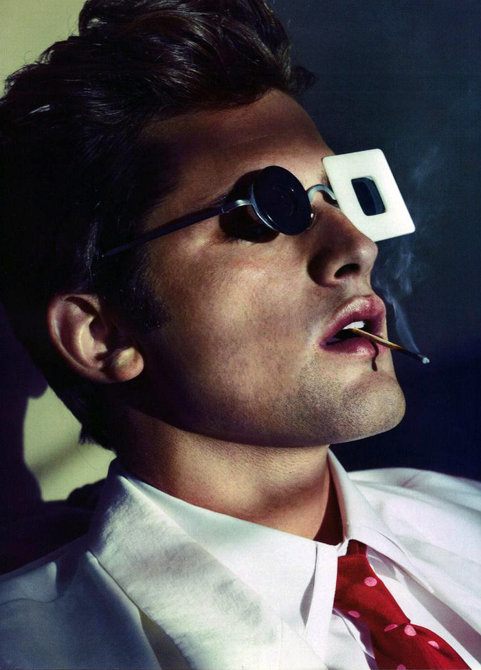 Sean O'Pry photographed by Alexei Hay and styl­ist Way Perry  for GQ Ger­many.