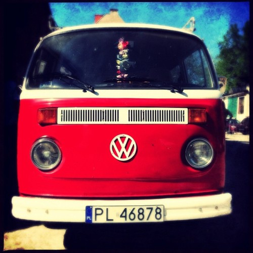 Red VW on Tattoo Konwent Wrocław… triptoelsewhere: