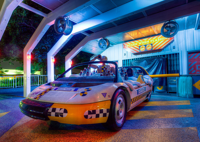 Coca-Cola Car, Test Track, EPCOT, Florida.