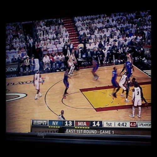 #LetsGoHeat #NBAPlayoffs #HeatvsKnicks #MiamiHeat #Instaheat #Heatnation #Heat #NBA (Taken with instagram)