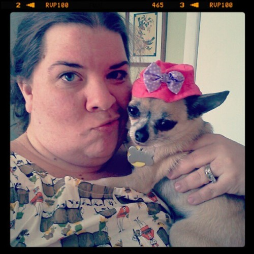 Precious and I…. chillin #chihuahua # dog (Taken with instagram)